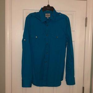 Express Men's Teal Button Down Shirt